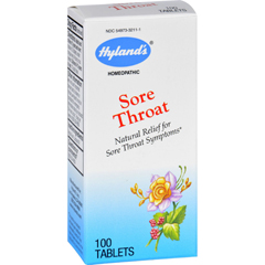 HGR1698604 - Hyland'sHylands Homeopathic Sore Throat - 100 Tablets