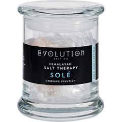 HGR1702455 - Evolution SaltSole Drinking Solution - Glass Jar and Crystals - 12 oz