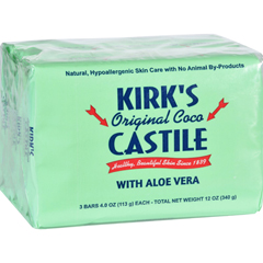HGR1702729 - Kirk's NaturalKirks Natural Bar Soap - Coco Castile - Aloe Vera - 4 oz - 3 Pack