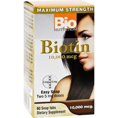 HGR1702851 - Bio NutritionInc Biotin - 10000 mcg - 60 Tablets