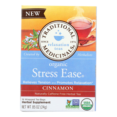 HGR1703313 - Traditional Medicinals - Relaxation Tea - Stress Ease Cinnamon - Case of 6 - 16 Bags