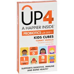 HGR1703321 - Up4Probiotics Probiotic Supplement - Kids Cubes - Yummy Vanilla - 20 Chews - Case of 8