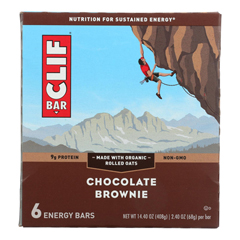 HGR1703339 - Clif Bar - Energy Bar - Chocolate Brownie - Case of 6 - 6/2.4 oz..