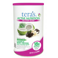 HGR1704352 - Tera's WheyProtein Powder - Casein and Whey - Active Nutrition - Recovery Blend - Bourbon Vanilla - 12.5 oz