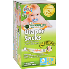 HGR1704733 - Eco-Friendly BagsGreen N Pack Diaper Sacks - Baby Powder Scented - 300 Bags - 1 Count