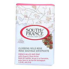 HGR1705581 - South of FranceBar Soap - Climbing Wild Rose - Travel - 1.5 oz - Case of 12