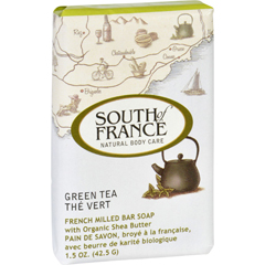 HGR1706308 - South of FranceBar Soap - Green Tea - Travel - 1.5 oz - Case of 12