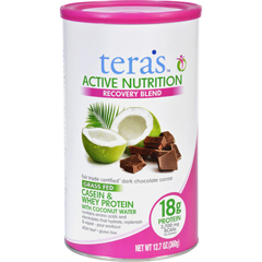 HGR1706951 - Tera's WheyProtein Powder - Casein and Whey - Active Nutrition - Recovery Blend - Fair Trade Certified Dark Chocolate - 12.5 oz