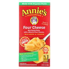 HGR1709013 - Annie's Homegrown - Four Cheese Macaroni and Cheese - Case of 12 - 5.5 oz.