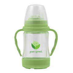 HGR1711670 - Green SproutsCup - Sip N Straw - Glass - 6 Months Plus - Green - 1 Count