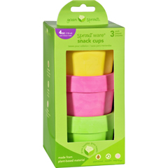 HGR1711704 - Green SproutsSnack Cups - Sprout Ware - 6 Months Plus - Pink Assorted - 3 Pack