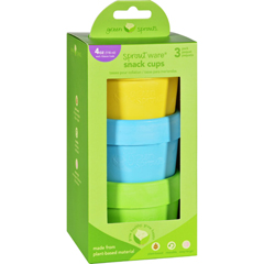 HGR1711712 - Green SproutsSnack Cups - Sprout Ware - 6 Months Plus - Aqua Assorted - 3 Pack