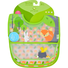 HGR1711787 - Green SproutsBib - Waterproof - 9 to 18 Months - Forest - Assorted - 3 Pack