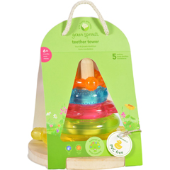 HGR1711795 - Green SproutsStacking Teether Tower - 6 Months Plus - Dream Window - 1 Count