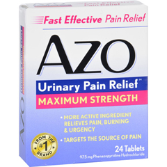 HGR1713239 - Azo - Urinary Pain Relief - 24 Tablets