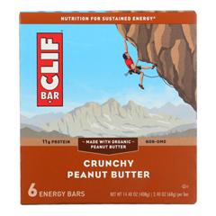 HGR1716273 - Clif Bar - Bar - Organic - Crunchy Peanut Butter - Case of 9 - 6/2.4 oz.