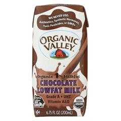 HGR1718410 - Organic Valley - Single Serve Aseptic Milk - Chocolate 1% - Case of 12 - 6.75oz Cartons