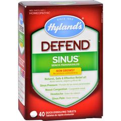 HGR1720242 - Hyland'sHylands Homeopathic Sinus - Defend - 40 Tablets
