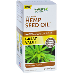 HGR1721141 - Nature's ScienceNatures Science Hemp Seed Oil - 100 Percent Pure - 84 Softgels