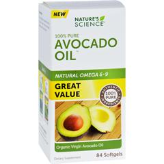 HGR1721166 - Nature's ScienceNatures Science Avocado Oil - 100 Percent Pure - 84 Softgels