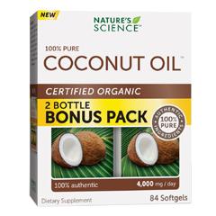 HGR1721224 - Nature's ScienceCoconut Oil - 100 Percent Pure - 84 Softgels