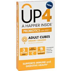 HGR1724673 - Up4Probiotics Probiotic Supplement - Adult Cubes - Creamy Orange - 20 Chews - Case of 8
