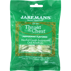 HGR1724939 - JakemansLozenge - Throat and Chest - Peppermint - 30 Count