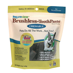 HGR1729888 - Ark NaturalsBreath-Less Brushless-ToothPaste - Chewable - Small to Medium Dogs - Case of 60