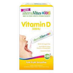 HGR1731876 - AlternavitesKids Vitamin D - 500 IU - Tutti Frutti - 30 Packets