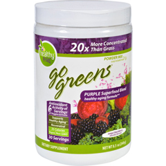 HGR1732056 - To Go BrandsInc Superfood Blend - Go Greens - Powder Mix - Purple - Saskatoon Blackberry - 8.5 oz