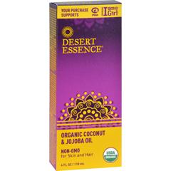 HGR1734581 - Desert EssenceCoconut and Jojoba Oil - Organic - 4 oz