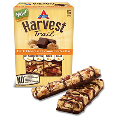 HGR1737501 - AtkinsHarvest Trail Bar - Dark Chocolate Peanut Butter - 1.3 oz - Case of 9
