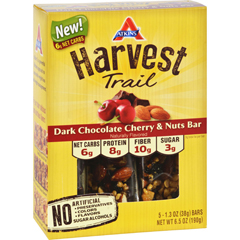 HGR1737568 - AtkinsHarvest Trail Bar - Dark Chocolate Cherry and Nuts - 1.3 oz - 5 Count