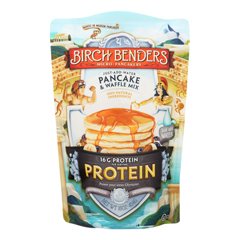 HGR1740794 - Birch Benders - Pancake and Waffle Mix - Protein - Case of 6 - 16 oz.