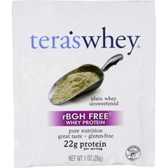 HGR1747021 - Tera's WheyProtein Powder - Whey - rBGH Free - Plain Unsweetened - 1 oz - Case of 12