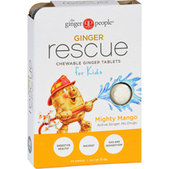 HGR1751635 - Ginger PeopleGinger Rescue for Kids - Mighty Mango - 24 Chewable Tablets - Case of 10