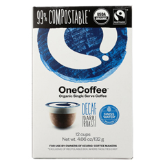HGR1765528 - One Coffee - Decaf Dark Roasted - Case of 6 - 12 Count