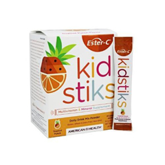 HGR1766468 - American HealthEster-C - Kid Stiks - Tropical Punch - 30 Packets