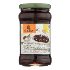 HGR1767516 - Gaea - Olives - Organic - Kalamata - Pitted - Original - 5.6 oz.. - case of 8
