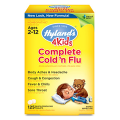 HGR1785054 - Hyland'sHomeopathic Cold n Flu - 4 Kids - Complete - 125 Quick-Dissolving Tablets