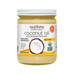 HGR1785914 - NutivaOrganic Coconut Oil - Buttery - Case of 6 - 14 oz.