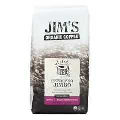 HGR1791599 - Jim's Organic Coffee - Whole Bean - Espresso Jimbo - Case of 6 - 11 oz..