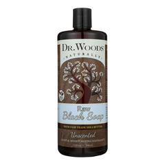 HGR1794197 - Dr. WoodsNaturals Black Soap - Shea Vision - Unscented - 32 oz