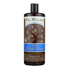 HGR1794288 - Dr. WoodsNaturals Black Soap - Shea Vision - Peppermint - 32 oz