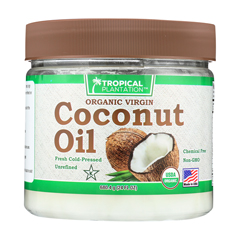 HGR1816974 - Tropical PlantationOrganic Coconut Oil - Case of 1 - 24 Fl oz.