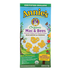 HGR1818392 - Annie's Homegrown - Organic Mac and Bees Macaroni and Cheese - Case of 12 - 6 oz.