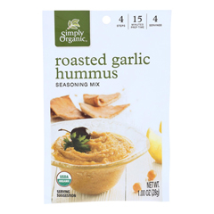 HGR1821164 - Simply Organic - Roasted Garlic Hummus Seasoning Mix - Case of 12 - 1 oz.