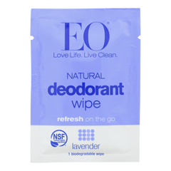 HGR1821438 - Eo Products - Deodorant Wipes - Lavender - Case of 24 - 1 Each