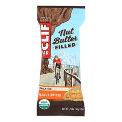 HGR1835636 - Clif Bar - Organic Nut Butter Filled Energy Bar - Peanut Butter - Case of 12 - 1.76 oz..