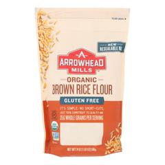HGR1839588 - Arrowhead Mills - Organic Brown Rice Flour - Gluten Free - Case of 6 - 24 oz..